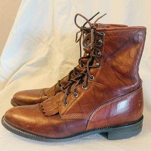 Justin vintage lace up combat boots - size 6 1/2